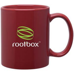 11 Oz. Cardinal Red C-Handle Mug