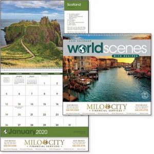 Triumph® World Scenes w/Recipes Appointment Calendar