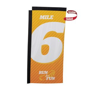 7' Premium Rectangle Sail Sign Flag, 2-Sided