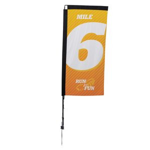 7' Premium Rectangle Sail Sign, 1-Sided, Ground Spike