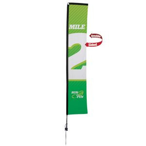 14.5' Premium Rectangle Sail Sign, 2-Sided, Ground Spike