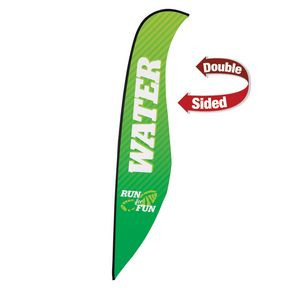 17' Premium Sabre Sail Sign Flag, 2-Sided
