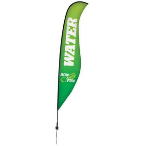17' Premium Sabre Sail Sign, 1-Sided, Ground Spike