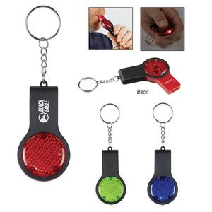 Reflector Key Light With Safety Whistle