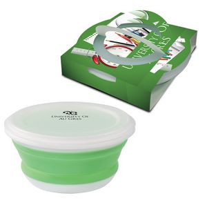 Collapsible Food Bowl With Custom Handle Box