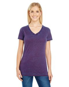 Threadfast Ladies' Cross Dye Short Sleeve V-Neck T-Shirt