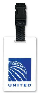 "Rubber Softies Bag Tag - Up to 3"" w/Vinyl Buckle"
