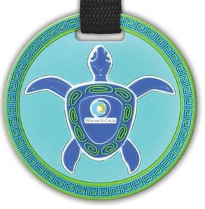 "4 1/2"" Custom Oversized 2D Bag Tag w/Privacy Flap"