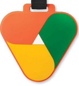 "4 1/2"" Custom Oversized 3D Bag Tag w/Privacy Flap"