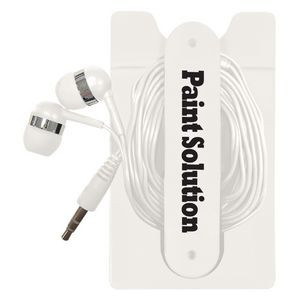 Phone Wallet With Earbuds