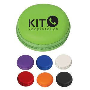 Round Zippered Electronics Travel Case