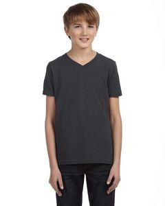 Canvas Youth Jersey Short-Sleeve V-Neck T-Shirt