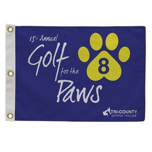 Golf Flag with Canvas Heading (Single-Sided)