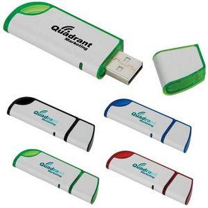 1 GB Slanted USB 2.0 Flash Drive