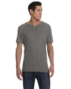 BELLA+CANVAS Men's Triblend Short-Sleeve Henley