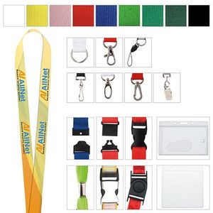 "Polyester 4 Color Process Lanyard (5/8""x19 5/8"")"