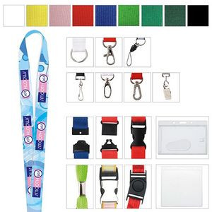 "Polyester 4 Color Process Lanyard (3/4""x19 5/8"")"