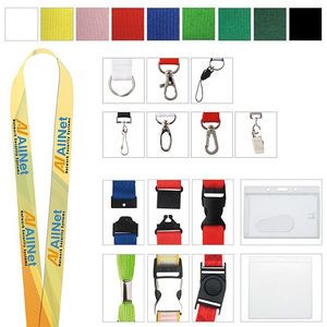 "Polyester 4 Color Process Lanyard (1""x19 5/8"")"