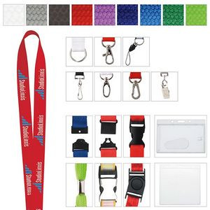 "Polyester Woven Lanyard (1""x19 5/8"")"