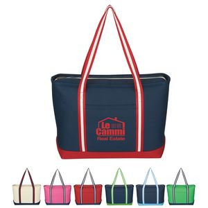 Large Cotton Canvas Admiral Tote Bag