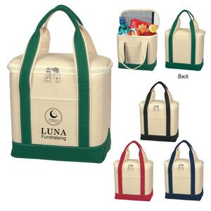 Small Cotton Canvas Cooler Bag