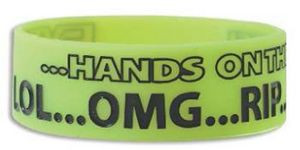 "1"" Silicone Band Jumbo Debossed w/Color Fill"