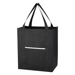 Wave Design Non-Woven Shopper Tote Bag