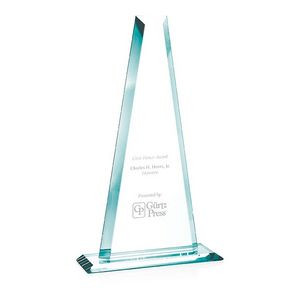 "Jaffa® 16"" Jade Crystal Tower Award"