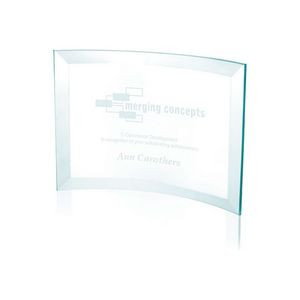 Jaffa® Small Jade Crystal Scroll Award