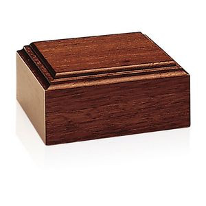Jaffa® Mahogany-Tone Wood Base