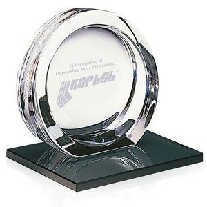 Jaffa® Signature Series Large High Tech Award on Black Glass Base