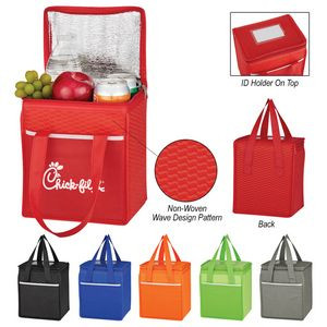 Non-Woven Wave Design Insulated Lunch Bag