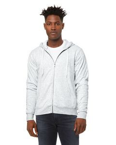 Canvas Unisex Poly-Cotton Sponge Fleece Full-Zip Hooded Sweatshirt