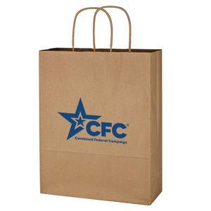 """Kraft Paper Brown Shopping Bag - 10"""" x 13"""""""