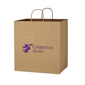 "Kraft Paper Brown Shopping Bag - 14"" x 15"""