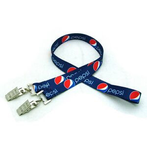 """1/2"""" Digitally Sublimated Lanyard w/ Double Standard Attachment"""