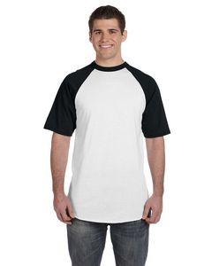 Augusta Sportswear® Adult Short-Sleeve Raglan Baseball Jersey T-Shirt