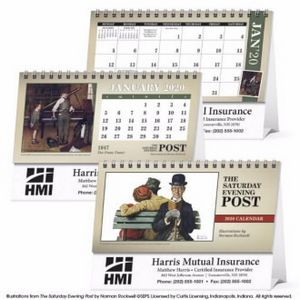 Triumph® The Saturday Evening Post Illustrations Desk Calendar