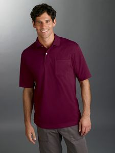 Jerzees Adult 5.6 oz. SpotShield? Pocket Jersey Polo