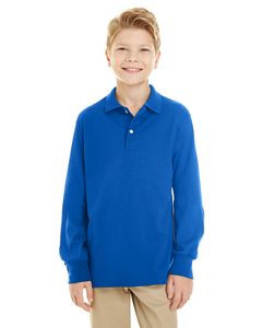 Jerzees® Youth 5.6 Oz. SpotShield™ Long-Sleeve Jersey Polo Shirt