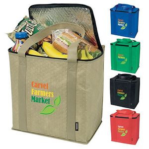 Koozie® Zippered Insulated Grocery Tote Bag