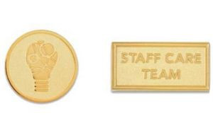 Lapel Pin - Die Struck Sandblast - 1 1/8""