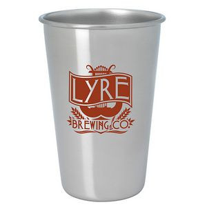 16 Oz. Good Value® Stainless Pint Glass - Silver