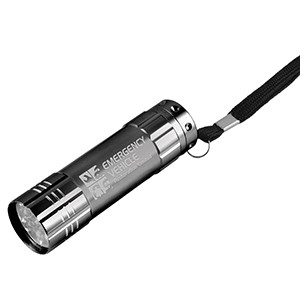 """Rocket"" 9 LED Aluminum Flashlight w/Hand Strap"