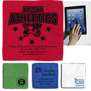 "12""x 12"" ""Lily"" 300GSM Heavy Duty Microfiber Cleaning Towel & Screen Cleaner"