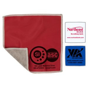 "6""x 6"" ""DoubleSide"" 2-in-1 Spot Color Microfiber Cleaning Cloth & Towel (Overseas)"
