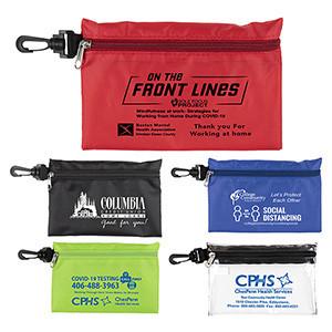 """Milos"" Large Zipper Storage Pouch Bag w/ Plastic Hook (Overseas)"
