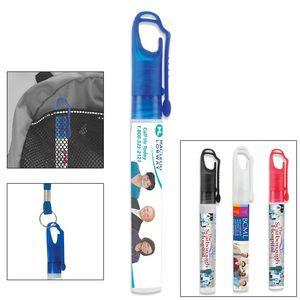 """SprayClip"" 10 ml. Antibacterial Hand Sanitizer Spray Pump Bottle with Carabiner Clip Cap(PhotoImage"