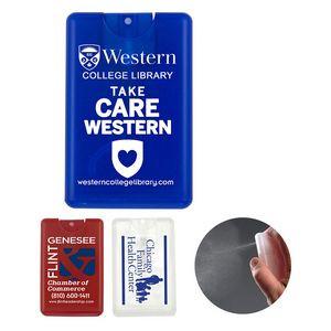 """SanCard"" 20 ml. Antibacterial Hand Sanitizer Spray in Credit Card Shape Bottle(Spot Color Print)"