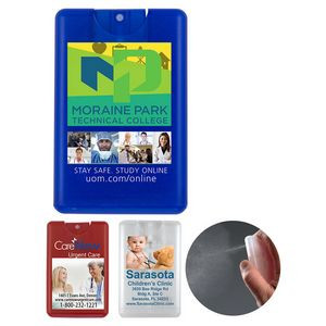"""SanCard"" 20 ml. Antibacterial Hand Sanitizer Spray in Credit Card Shape Bottle(PhotoImage®Fullcolor"
